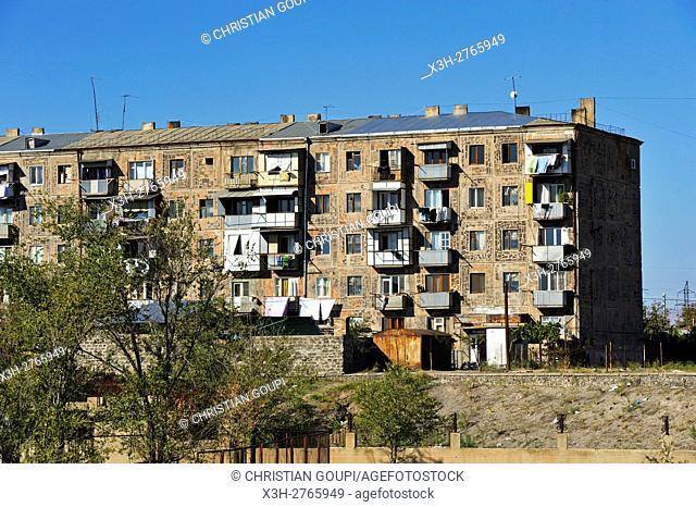 council housing in the suburbs of Yerevan, Armenia, Eurasia