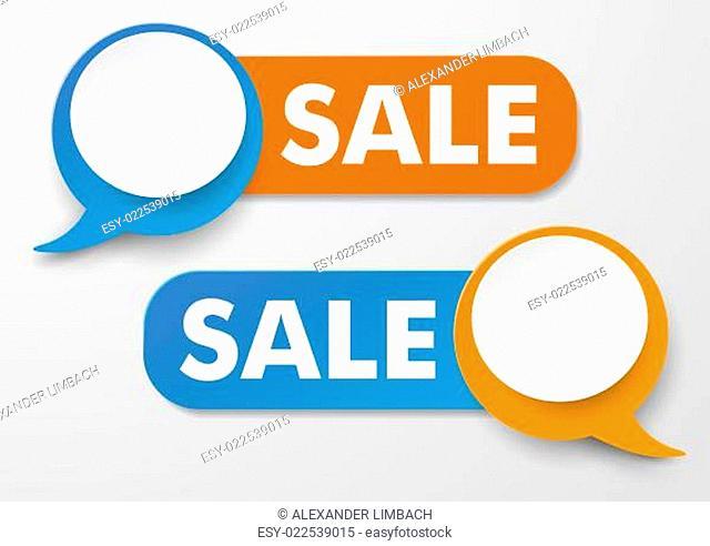 Speech Bubble Sale Labels