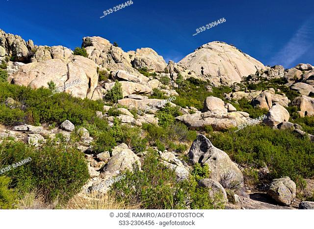 The Yelmo cliff in the Pedriza. Regional Park Of Alto Manzanares. Sierra de Guadarrama. Madrid. Spain. Europe