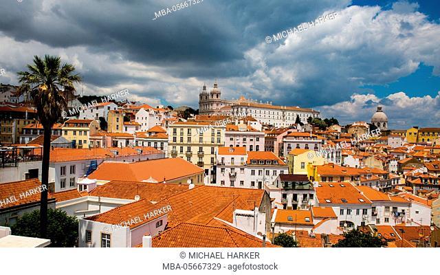Europe, Portugal, Lisbon, view to the Monasterio sao Vicente