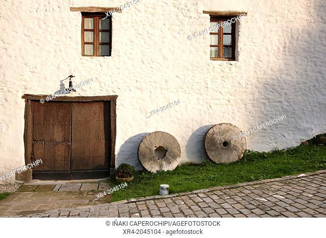 Millstones, Monumental Ensemble of Igartzal, Beasain, Goierri, Gipuzkoa, Basque Country, Spain