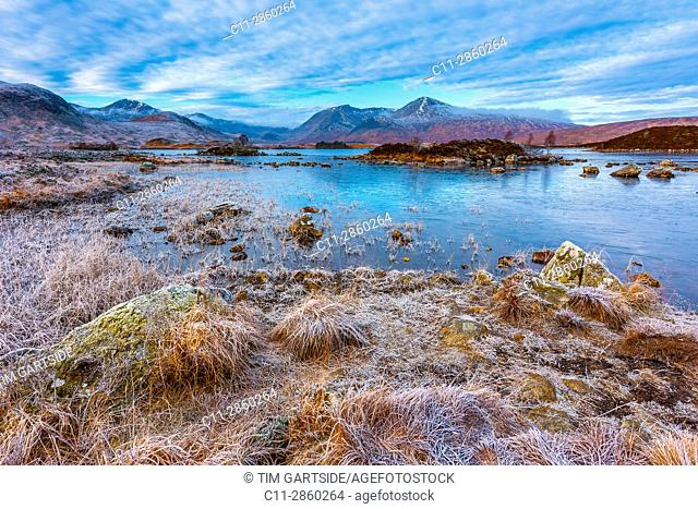 rannoch moor, black mount, Ben Nevis and Glencoe, Argyll and Bute, Central Highlands, Scotland, uk;
