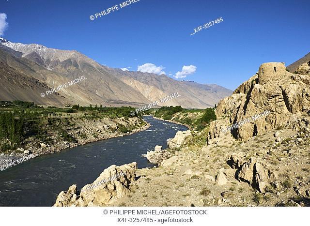 Tadjikistan, Asie centrale, Gorno Badakhshan, Haut Badakhshan, le Pamir, la forteresse de Khaakha dans la vallée du Wakhan