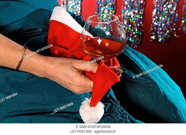 Christmas Party. Women and alcohol