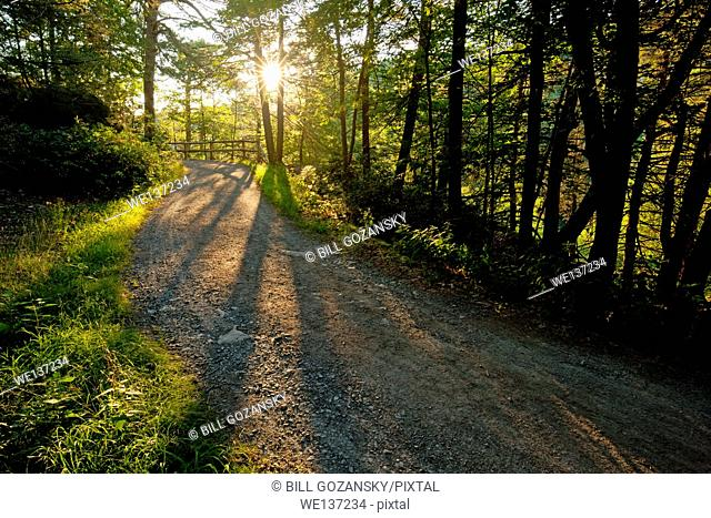 Sunrise on Carriage Trail - Mohonk Mountain House, New Paltz, Hudson Valley, New York, USA