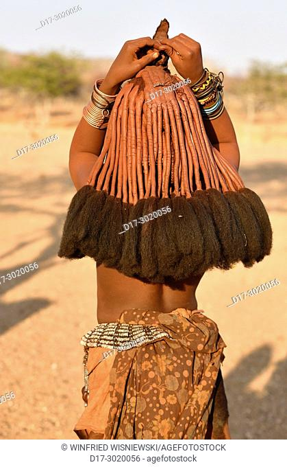 Hair accessories of a married Himba woman. Kaokoveld, Northern Namibia