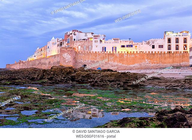 Morocco, Essaouira, view to medina