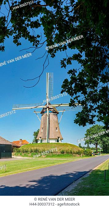 Windmill on a mound called De Duif / The Pigeon