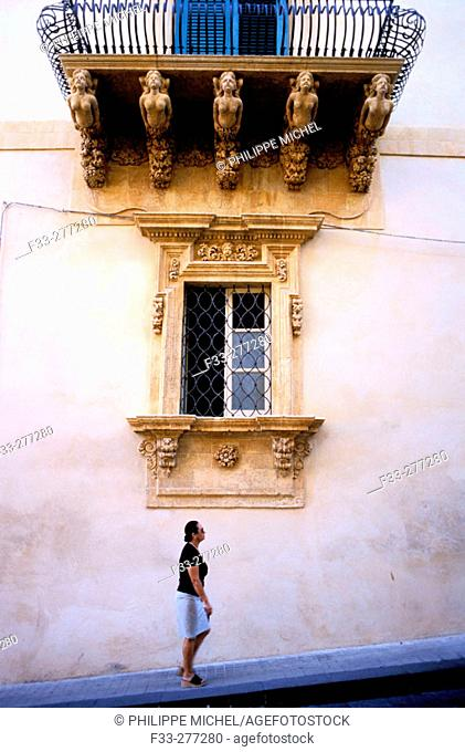 Palazzo Nicolaci. Noto (Baroque village). Sicily. Italy