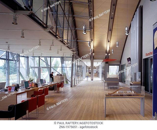 ZENTRUM PAUL KLEE, BERN, SWITZERLAND, RENZO PIANO BUILDING WORKSHOP, INTERIOR, STUDY AREA