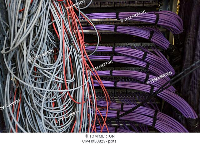 Server room cable wires