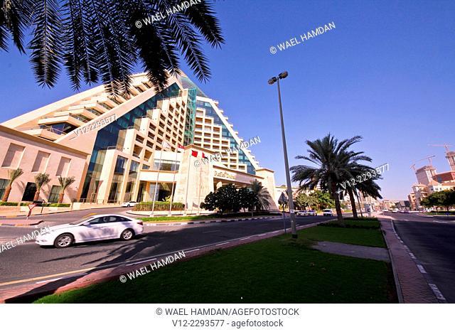 Raffles Dubai Hotel a Pyramid shaped, Egyptian style, Dubai, United Arab Emirates