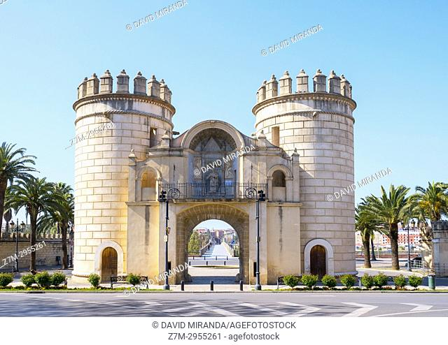 Puerta de Palmas. City of Badajoz. Extremadura. Spain