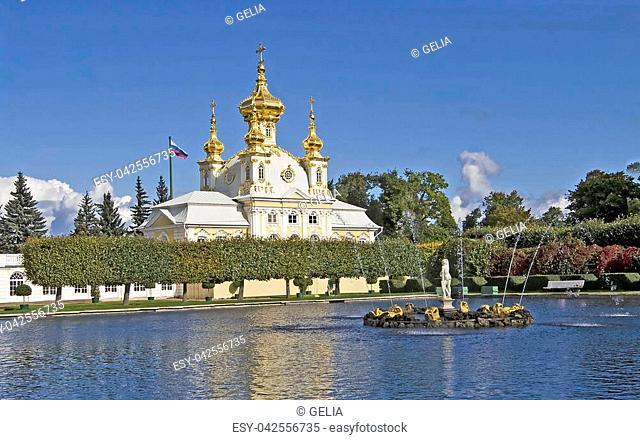 Big Palace in Petergof, Saint Petersburg, Russia