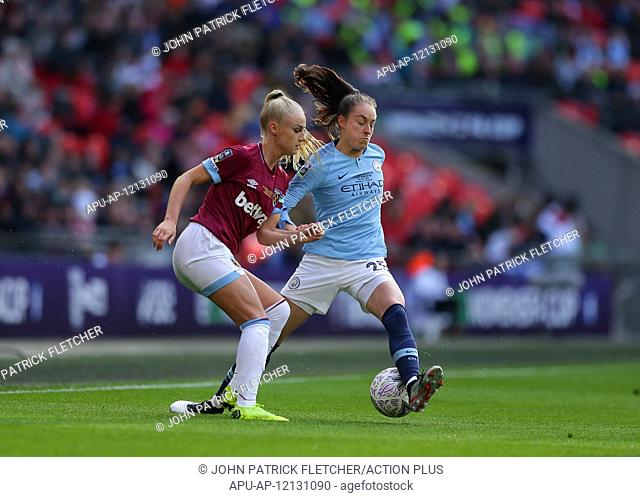 2019 Womens FA Cup Final Man City v West Ham Utd May 4th. 4th May 2019, Wembley Stadium, London, England; Womens FA Cup final