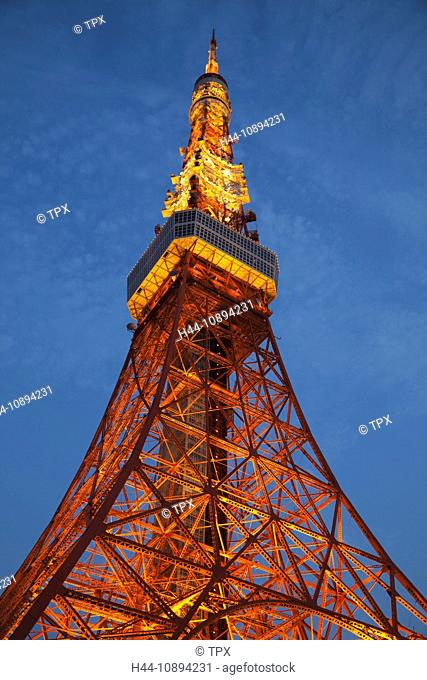 Asia, Japan, Honshu, Tokyo, Tokyo Tower, Night View, Tourism, Travel, Holiday, Vacation