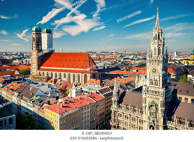 Aerial view of Munchen