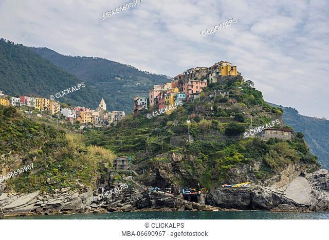 Corniglia, Cinque Terre, province of La Spezia, Liguria, Italy, Europe