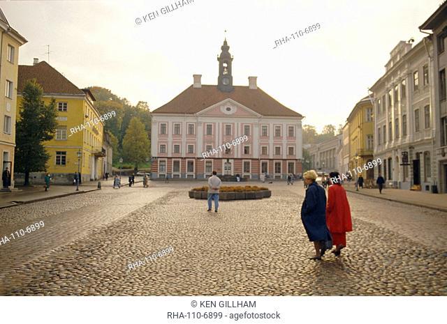 Town Hall Square, Tartu, Estonia