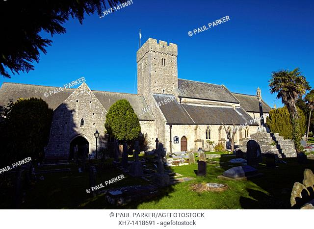 St Illtud's Church, Llantwit Major, Glamorgan, South Wales, UK