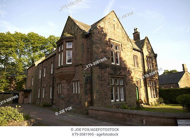 No, 7 building Carlisle cathedral abbey precinct Carlisle Cumbria England UK
