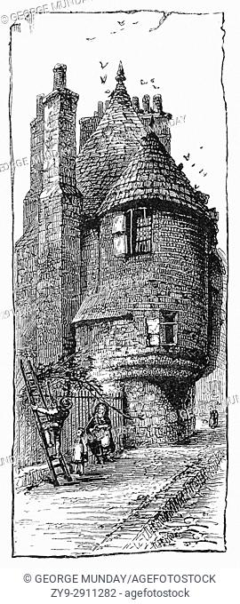 1870: A small garden building, surviving from the 16th-century, is known as Queen Mary's Bath House, where the queen supposedly bathed in sweet white wine