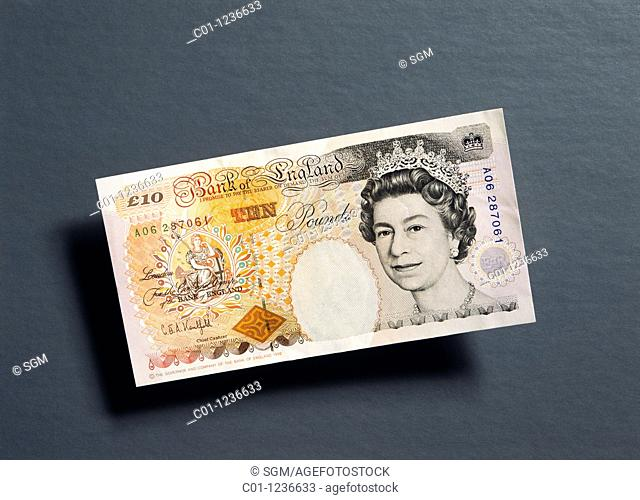 former 10 British pounds banknote