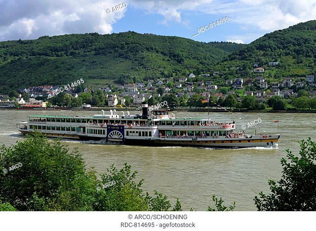 Pleasure boat Goethe, Rhineland-Palatinate, Germany