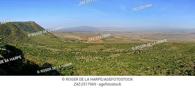 Great Rift Valley escarpment. Kikuyu Escarpment. Kenya