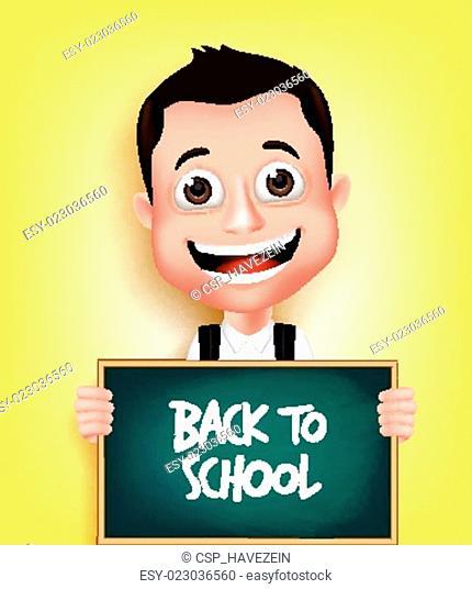 School Boy Student Character