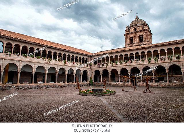 Colonial courtyard, Cusco, Peru, South America