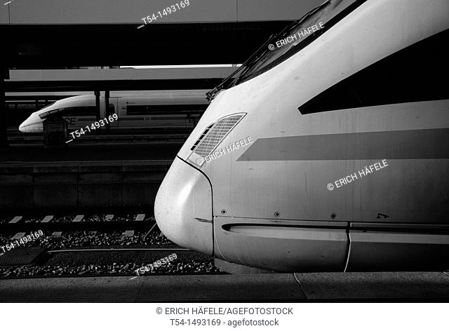 Power Haed of a ICE Train in Munich HBF