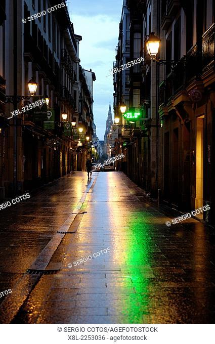 Old town, San Sebastian, Basque Country, Spain