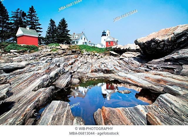 The USA, Maine, Bristol, Pemaquid Lighthouse