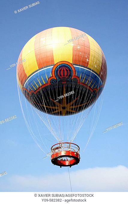 Helium balloon aerostatic. Disneyland Resort Paris. France