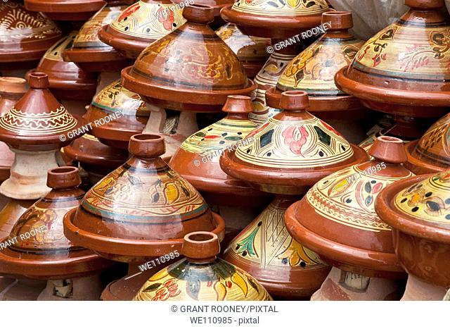 Tajine pots for sale, Meknes, Morocco