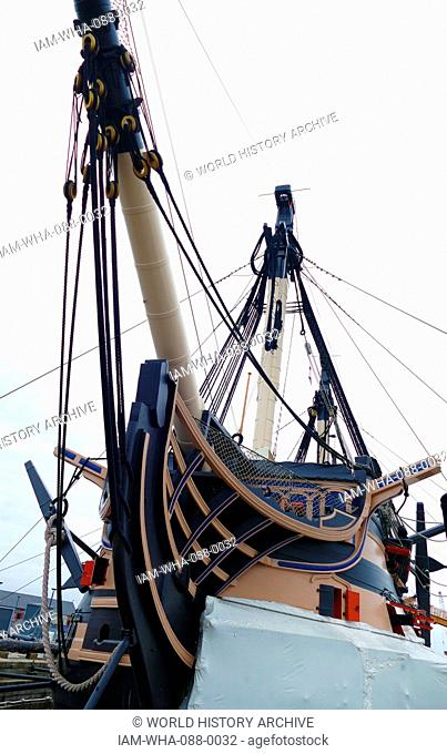 HMS Victory is a 104-gun first-rate ship of the line of the Royal Navy, ordered in 1758, laid down in 1759 and launched in 1765