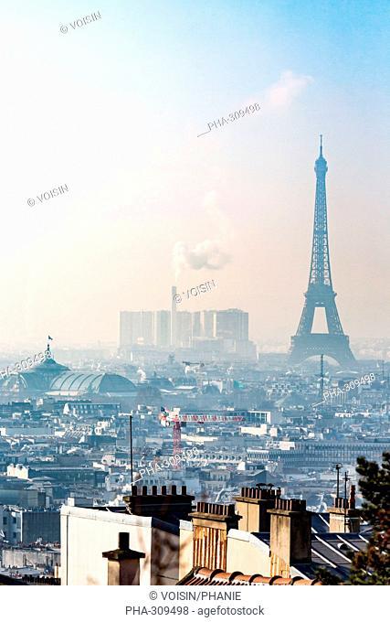Air pollution in Paris, France