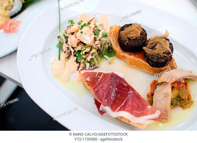 Assorted Mediterranean tapas