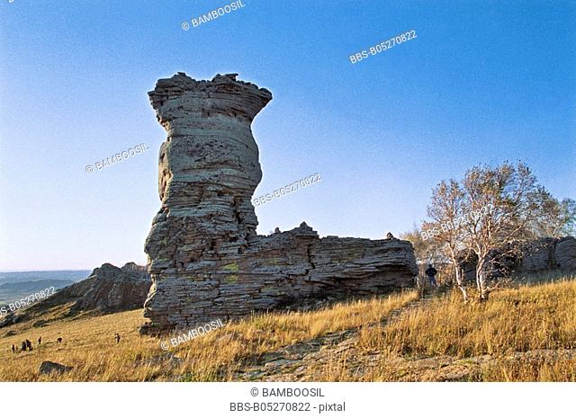 The landscape of Asihatu, Keshiketengqi, Chifeng City Inner Mongolia Autonomous Region of People's Republic of China
