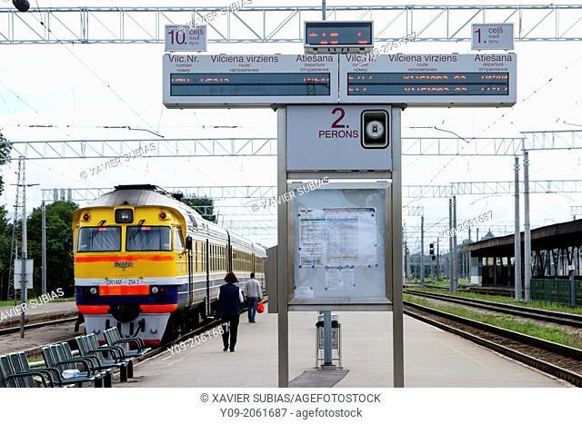 Railway station, Riga, Latvia