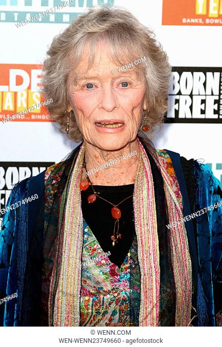 Golden Years - Charity film premiere in aid of The Born Free Foundation, Odeon Tottenham Court Road, London Featuring: Virginia McKenna Where: London