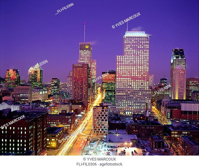 Montreal Skyline at Sunset, Montreal, Quebec
