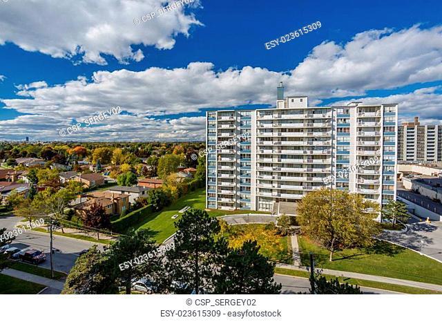 Apartments buildings Toronto view