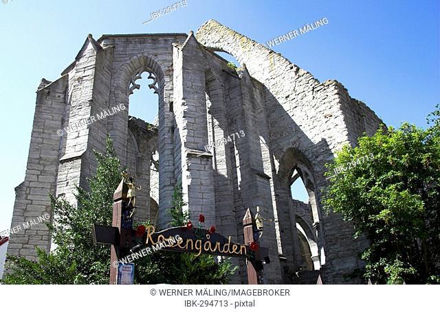 Ruins of St. Kathrin, Visby, Gotland, Sweden