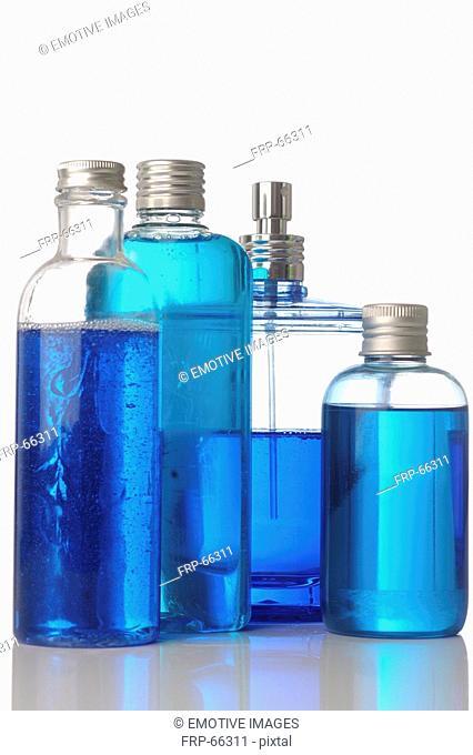 Four fragrance bottles