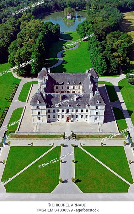 France, Yonne, Chateau de Ancy le Franc and its park designed by Andre Le Notre