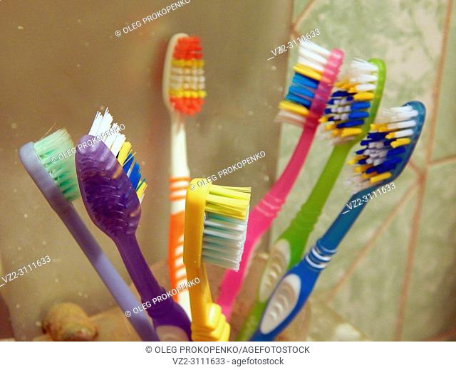 Bathroom accessories for hygiene toothbrushes