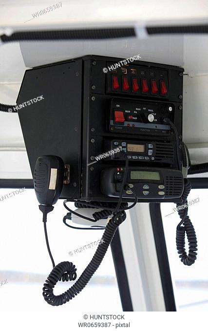CB radio in a security boat