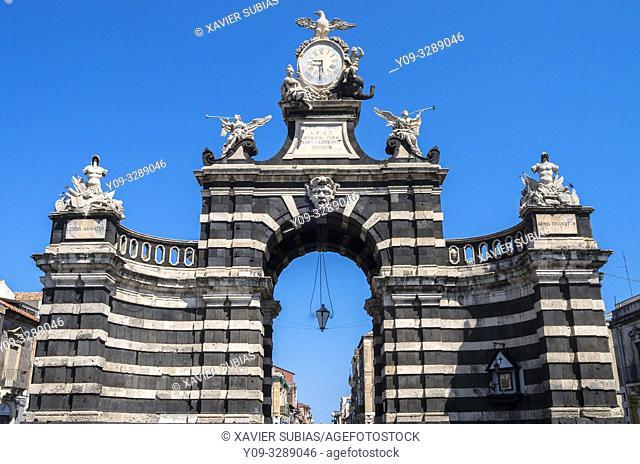 Porta Garibaldi, Catania, Sicily, Italy